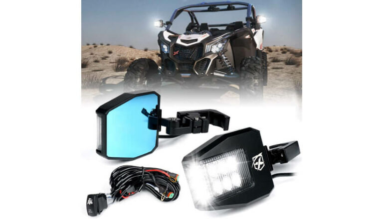 KAWASAKI-KRX-1000-Xprite-Aluminium-Side-View-Mirrors-LED-Spot-Lights-fits-UTV-Side-by-Side-01
